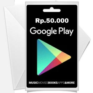 Voucher Google Play Gift Card Region INDONESIA 50K (Android Play Store)