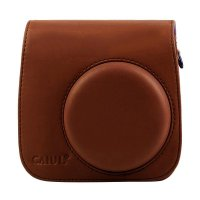 Caiul Godric Leather Bag Pouch for Fujifilm Instax Mini 8 or 9 - Coklat