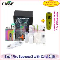Eleaf Pico Squeeze 2 with Coral 2 100W RDA Vaporizer + 21700 Battery - Dazzling
