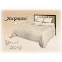 New Bedcover King Jaquard Emboss Fata Pearl Ivory 180X200 Cm / Spf 318