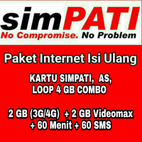 Paket Data Kuota Internet Telkomsel 4 GB Combo 30 Hari