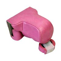 CAMWEAR Leather Case for Fujifilm X-A3 - Pink