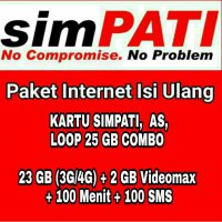 Paket Data Kuota Internet Telkomsel 25 GB Combo 30 Hari