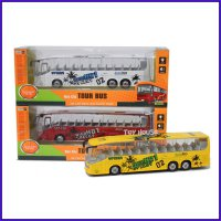 Diecast Miniatur Bus - Die cast Metal City Tour Bus Skala 1:43