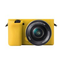 Godric Silicone Sony Alpha A6000 A6300 Silikon Case / Sarung Silicon Kamera Mirrorless - Kuning