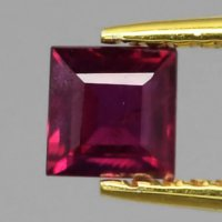 [RB056] Certified 0.41ct 4mm Square Natural Unheated Untreated Rich Red RUBY, Mozambique