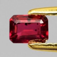 [RB057] Certified 0.60ct 5x3.5mm Octagon Natural Unheated Untreated Rich Red RUBY, Mozambique