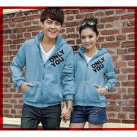 [Cp Jkt Only You CL] couple jaket babyterry turkis