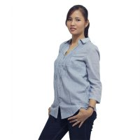 TYF designs Long sleeve shirt with pintuck - Grey