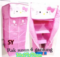 Rak Susun 4 Gantung Hello Kitty