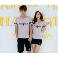 [Cp St Paris Misty Black LT] baju couple combed babyterry misty black