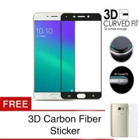 Grace Oppo F1 Plus / R9 Tempered Glass + PET - 3D Full Cover - Lis Hitam