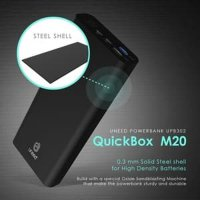 Uneed Powerbank 20.000mAh Qualcomm Quick Charge 3.0 - QuickBox M20