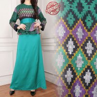 SB Collection Dress Maxi Zahra Longdress Gamis Batik Wanita