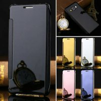 Clear View For Samsung A7 - Flip Smart Cover Flip Case Mirror Casing Sarung