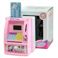 Celengan ATM Mini / Mesin ATM / Hello Kitty / Doraemon / Mainan Anak