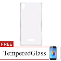Case for Oppo Mirror 5 - Clear + Gratis Tempered Glass - Ultra Thin Soft Case