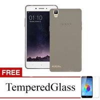 Case for Oppo F1 Plus - Abu-abu + Gratis Tempered Glass - Ultra Thin Soft Case