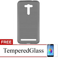 Case for Asus ZenFone Go 4.5' - Abu-abu + Gratis Tempered Glass - Ultra Thin Soft Case
