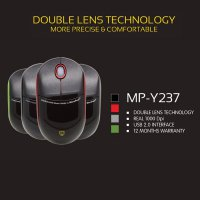 Mouse USB Double Lens 1000dpi Micropack MP-Y237 (MP-237)