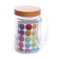 1PCS NAKAMI GLASS CANISTER / TOPLES KACA - 800ML (NK-GCH800-ORO)
