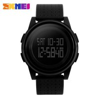 Fashion Black Mens Rubber Band Digital Army Military Quartz Sport Wrist watch