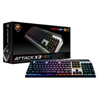 Cougar Mechanical Gaming Keyboard Attack X3 RGB Cherry MX Silver Switc