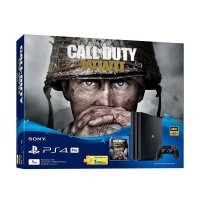 SONY PlayStation 4 Pro with Call of Duty WWII Bundle Pack Game Console - Jet Black [1 TB]