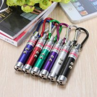 UV Led Laser keychain Gantungan Kunci Pointer Money Detector Mini LED SJ0048