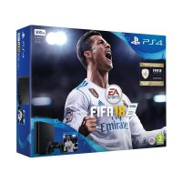 SONY Playstation 4 Slim CUH 2116 Game Console - Jet Black [500 GB] + FIFA 18 DVD Game [Reg Eur]