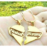 Set Kalung Couple Nama Lapis Emas (2.pcs)...