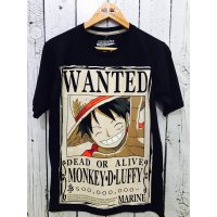 KAOS ANIME LUFFY WANTED BLACK NEW