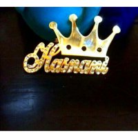 A Crown Of the King /Bros hijab / peniti Krudung / mahkota Raja / Lapis Emas / Request Nama
