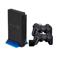 SONY PS2 HDD Internal 3/5 with 2 Wireless Stick Game Console - Hitam [80 GB]