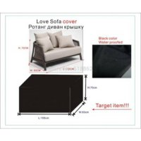[globalbuy] Two seats Rattan Love sofa cover,water proofed furniture cover L155xW83xH70cm/985147