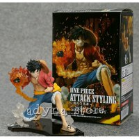 Action Figure One Piece Luffy Attack Styling