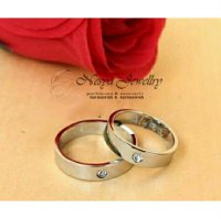 Set Cincin Couple Permata Anti Luntur Free Ukir Nama …