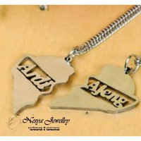 Promo Set Kalung Nama Couple Silver...