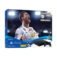 SONY PlayStation 4 Slim CUH 2006 Game Console - Jet Black with FIFA 18 DVD Game [Reg 3 Asia/500 GB]