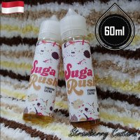 Sugar Rush 60ml Eliquid Vape - Strawberry Custard (Premium Liquid)