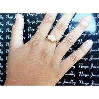 Cincin Permata Love Lapis ~ Ring Gold