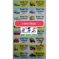 Name Label Sicker Waterproof Nama Stiker Antiair S-cars M-Cars 2 L Cars 2