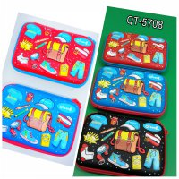 TEMPAT PENSIL SELETING JUMBO EVAMATE SMIGGLE FASHION BOYS 5708