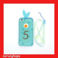 iPhone 5 - 5S - SE Bunny Softcase Casing Cover - Biru