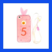 iPhone 5 - 5S - SE Bunny Softcase Casing Cover - Pink