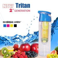 Botol TRITAN 2 GENERATION INFUSED WATER BOTTLE WITH FRUIT INFUSER BPA FREE