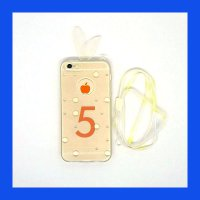 iPhone 5 - 5S - SE Bunny Softcase Casing Cover - Clear