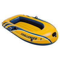 Intex Inflatable Challenger 1 Boat (Kuning) Perahu Karet Single Dewasa 68365