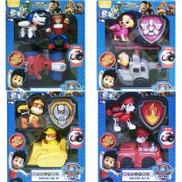 Mainan Anak - Paw Patrol Figure 330 Collection All 8 Model Mobil