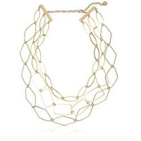 [macyskorea] French Connection Gold 3 Strand Polygon Link Chain Necklace, 19/8161562